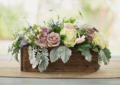 French Country Wooden Box Centerpiece--DesignLovesDetail