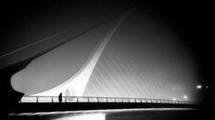 Samuel Beckett Photograph - The Foggy Bridge - Dublin, Ireland - Black And White Street Photography by Giuseppe Milo