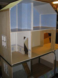 diy tutoriel fabriquer maison de barbie maisons de poup es pinterest fait maison. Black Bedroom Furniture Sets. Home Design Ideas