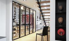 Custom steel wine cabinet - Lasne 2015, by Degré 12