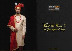 Manawat is an exclusive store and showroom for mens sherwani and other wedding wear like kurta payjama, mens blazer and more. Mens Sherwani, Wedding Sherwani, Churidar, Wedding Wear, Stylish Men, Mens Suits, Pajamas, Formal, Coat