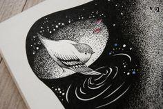 whale and bird by Yulia Moschinetskaya, via Behance