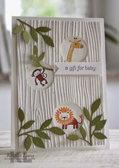 Super Baby Boy Cards Stampin Up Embossing Folder 37 Ideas Baby Boy Cards, New Baby Cards, Baby Shower Cards, Scrapbook Bebe, Scrapbook Cards, Kids Birthday Cards, Embossed Cards, Stamping Up Cards, Cool Cards