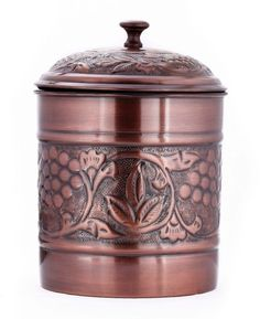 Old Dutch Heritage Cookie Jar. Antique copper finish complements both traditional and contemporary kitchen decor. Tight-fitting lid helps keep food fresher, longer.  affiliate