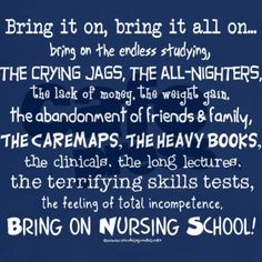 Nursing School.... Let's do this!!!