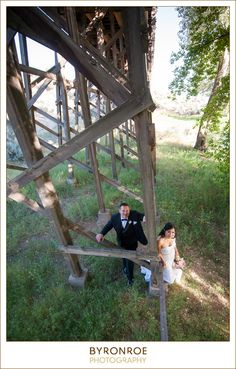 Brasada Ranch in Bend, Oregon is truly a magical place to get married with the cool red barn, trestle bridge and insane view of the Cascade Range this place has it all! Places To Get Married, Got Married, Cascade Mountains, Local Photographers, Central Oregon, Ranch, Bridge, Scenery, Wedding Photography