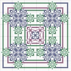 First Pattern from the Magic of Colors Collection from Seba Blackwork Designs. Blackwork Patterns, Blackwork Embroidery, Diy Embroidery, Cross Stitch Embroidery, Embroidery Patterns, Cross Stitch Pillow, Cross Stitch Love, Cross Stitch Designs, Cross Stitch Patterns