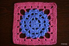 Violet Crochet Square ~ free pattern ᛡ