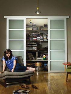 the cuter closet door -- sliding frosted glass