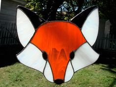 Stained Glass Fox by bigblued.deviantart.com on @deviantART