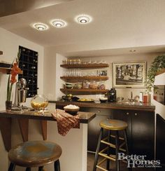 LOVE this small bar kitchen in the basement!!!