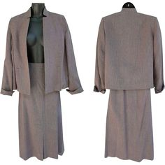 Wonderful vintage tweed suit classic Size Medium - Large / Md. - Large. Offered at an introductory Sale Price for a short time. Measurements in