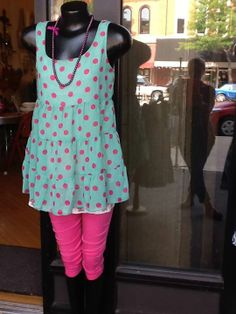 Anyone call for polka dots...Pink polka dots scream look at me and yeah I am all that and the bag of Chips!!