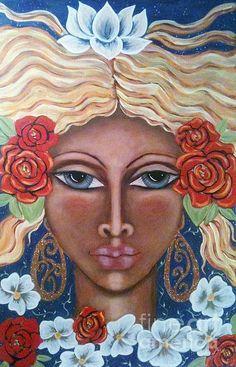 Aradne's Crown - painting by Maya Telford. Fine art prints and posters for sale.  #mayatelford #spiritualart #painting