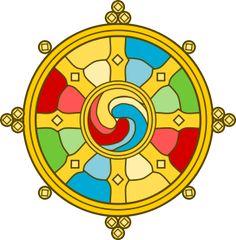 Tibetan Wheel of Dharma/Life (Dharmachakra)