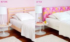 A lot of you remember the '1 bed, 4 ways' post and commented on the bed. Well, that was a DIY'd bed that we made for the Redbook column. And here's the DIY for all of you who are looking to recreat...