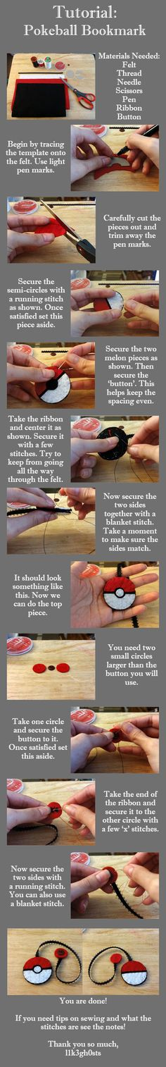 Tutorial: Pokeball Bookmark by l1k3gh0sts.deviantart.com on @deviantART