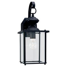 Sea Gull Lighting 8458-12 Jamestowne 1 Light 17 inch Black Outdoor Wall Lantern