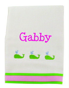 Designed with fabulous color combinations and funky prints, making a fashion statement while handling any mess baby throws your way. These are the softest, most absorbent burpies available to protect baby's delicate skin. A Little Bit Of This Girl Whale Burp Cloth. Click the image to get more information about the product, including personalization options, at our online store!