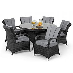 aston rattan garden furniture 6 seat oval dining set green cushions rattan furniture sets pinterest rattan garden furniture garden furniture and - Rattan Garden Furniture 6 Seater