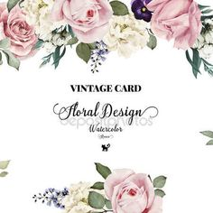 Download - Greeting card with roses, watercolor, can be used as invitation — Stock Illustration #77088117