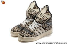 Latest Listing Cheap Adidas X Jeremy Scott Big Tongue Leopard Shoes Sports Shoes Store