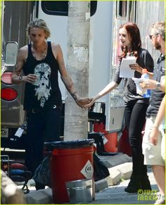 Lily Collins & Jamie Campbell Bower Kiss On 'Mortal Instruments' Set!: Photo Lily Collins kisses her rumored boyfriend Jamie Campbell Bower while standing outside of his trailer on the set of their film The Mortal Instruments: City of Bones… Jamie Campbell Bower, Lily Collins, Mortal Instruments Books, Shadowhunters, Cassandra Clare Books, Clace, The Dark Artifices, City Of Bones, The Infernal Devices