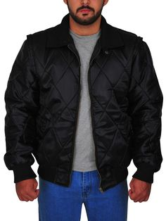 The Ryan Gosling Scorpion Drive Logo Jacket is a classic looking black jacket made from satin with full-length sleeves and a zipper style closure. Ryan Gosling Drive, Scorpion, Black Fabric, Rib Knit, Shirt Style, Bomber Jacket, Leather Jacket, Celebs, Zipper