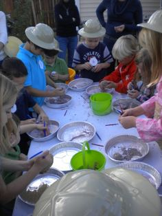have the kids in the sand box for fossils...maybe they are too young for that?