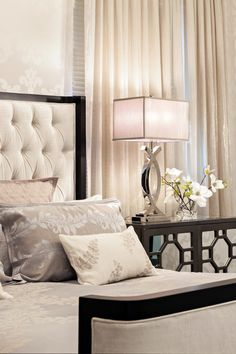 Bedroom Designs 2014 bedroom design, upholstered headboard, white color palette, stone