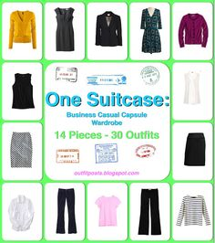 Outfit Posts: One Suitcase: 14 Pieces, 30 Outfits