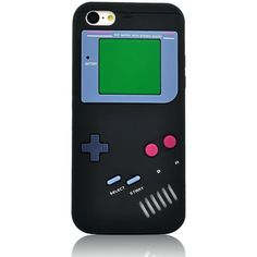 Amazon.com: I Need(TM) Stylish 3D Game Boy Style Black Soft Silicone... ($2.08) ❤ liked on Polyvore featuring accessories and tech accessories