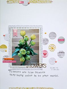Flowers by Sockergrynet at @studio_calico