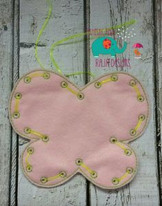 Butterfly Lacing Card Toy