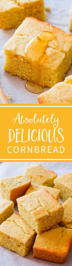 With its full flavor, tender texture, and crunchy/honey/buttery edges, it's easy for me to say that this is my favorite cornbread recipe! Recipe at sallysbakingaddiction.com