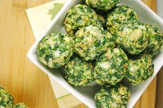 Recetas para niños con verduras: bolitas de espinacas