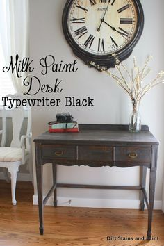 Dirt Stains and Paint: Milk Paint Desk - Thrifted Upcycle