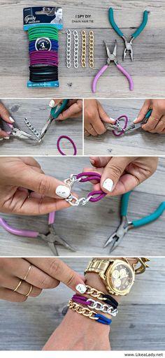 Chain hair tie - #diy