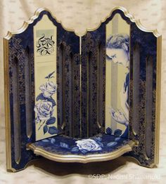 Naomi Shimanuki CDA – Blue Rose Shelf – P-OD-026  Semi Finalist for the 2013 Pampered Palette Juried Exhibition  decorativepainters.org  Learn to paint with us! With our step by step pattern based designs, anyone can become a Master Decorative Artist.