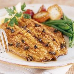 Trout with Browned Butter and Capers Recipe | MyRecipes.com Mobile