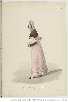 Couturière en corsets from Georges-Jacques Gatine, Costumes d'ouvrières parisiennes, 1824, BNF Paris