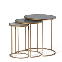 salvatore nest of tables glass side tablesoval tableliving room - Side Tables For Living Room
