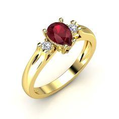 The Alyssa Ring #customizable #jewelry #ruby #diamond #gold #ring