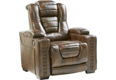 Eric Church Highway To Home Renegade Brown Leather Dual Power Recliner x x Find affordable Leather Recliners for your home that will complement the rest of your furniture. Leather Recliner, Leather Sofa, Brown Leather, Leather Chairs, Living Room Built In Cabinets, Game Room Bar, Family Room Fireplace, Chairs For Rent, Farmhouse Table Chairs