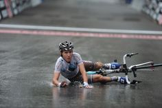 Gallery 2013: Through the lens of Stefano Sirotti -  Domenico Pozzovivo crashed after the finish of Il Lombardia!
