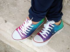 rainbow converse low tops
