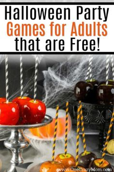 Here are some easy Halloween Party Games for Adults that will cost you nothing. Adults can have fun at Halloween too without breaking the bank. Try these easy free Halloween party ideas for adults. Halloween Games Online, Halloween Drinking Games, Halloween Games Adults, Outdoor Halloween Parties, Halloween Party Appetizers, Halloween Food For Party, Hallowen Party, Halloween Drinks, Halloween Activities
