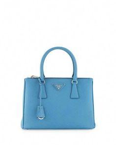 9a6daf952c PRADA Saffiano Extra Large Galleria Double Zip Tote Bluette ...