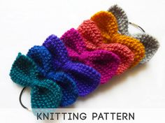 D.I.Y: Knitting Pattern Hair Bow, Mini Knit Bow Tie... I am so going to make my kids little bow ties and hair bows