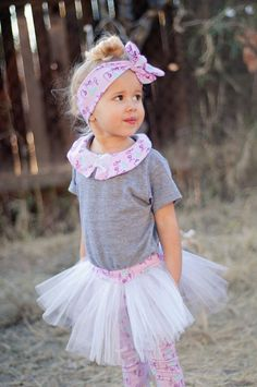 Shirt Tutu Leggings and Headwrap Love You More by PickeeKids